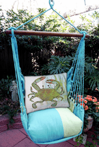 Crab Meadow Mist Stripe Swing Set