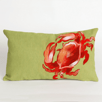 Crab Red Pillow - 12 x 20