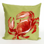 Crab Red Pillow - 20 x 20