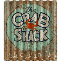 Crab Shack Personalized Corrugated Metal Sign