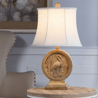 Crane Carving Table Lamp