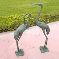 Crane Couple Statuary - Set of 2