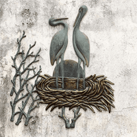 Crane Lovers Wall Plaque