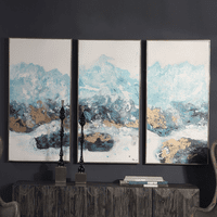 Crashing Waves Framed Canvases - Set of 3