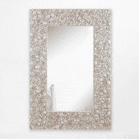 Cream Shell Wall Mirror