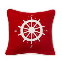 Crimson Compass Pillow