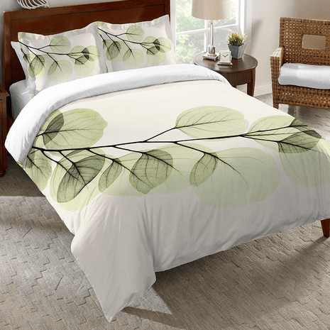 Crystalline Leaves Duvet Cover - Queen