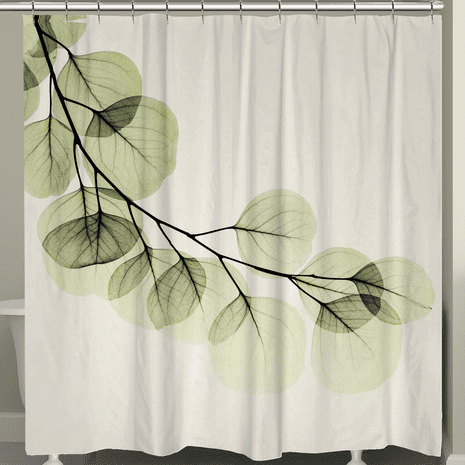 Crystalline Leaves Shower Curtain