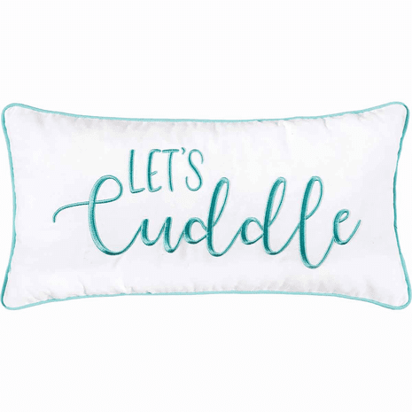 Cuddle Embroidered Pillow