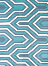 Cupola Blue Rug Collection