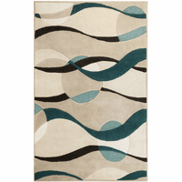 Currents Taupe Rug Collection