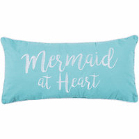 Cursive Mermaid Pillow