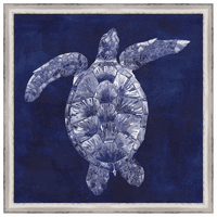 Custom Sea Turtle Shadow II Framed Canvas