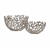 Cutout Coral Bowls - Set of 2