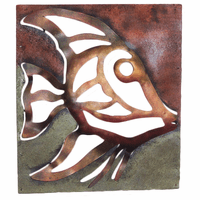 Cutout Fish Metal Wall Art