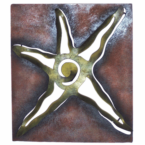Cutout Starfish Metal Wall Art