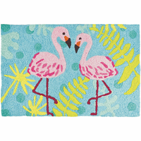 Dancing Flamingos Indoor/Outdoor Rug