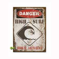 Danger High Surf Personalized Signs