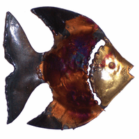 Dark Fin Copper Dripped Fish - Right Facing