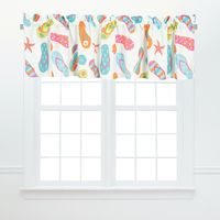 Day at the Beach Valance - Set of 2