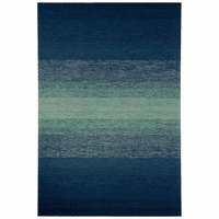 Deep Blue Ombre Indoor/Outdoor Rug Collection