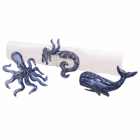 Deep Blue Sea Napkin Rings - Set of 6