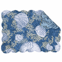Deep Blue Sea Scalloped Placemats - Set of 6