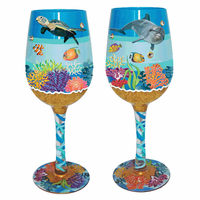 Deep Diver Wine Glasses - Set of 4