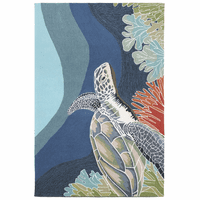 Deep Swim Turtle Indoor/Outdoor Rug Collection