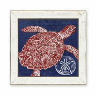Denim Wash Sea Turtle Framed Art