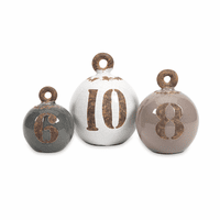 Destin Ceramic Weights - Set of 3 - OVERSTOCK
