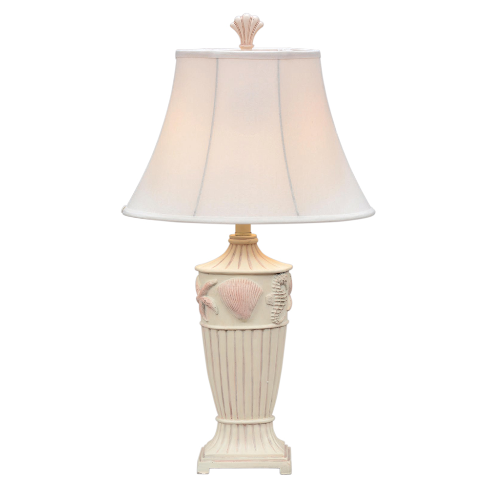 Beach Table Lamps Cream Seaside Table Lamp With Round