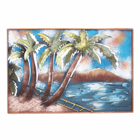 Diamond Head Metal Wall Art