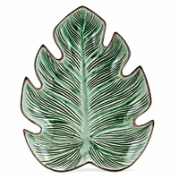 Dimensional Palm Leaf Platter