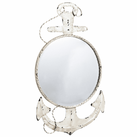 Distressed Anchor Wall Mirror
