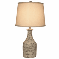 Distressed Faux Clay Jug Table Lamp