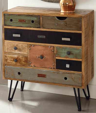 Distressed Nine Drawer Chest