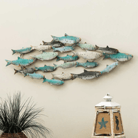 Distressed School of Fish Wall Art