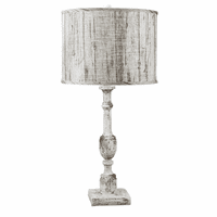 Distressed White Birch Table Lamp