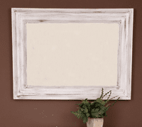 Distressed White Mirror - OUT OF STOCK
