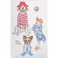 Doggy Holiday Flour Sack Towels - Set of 6