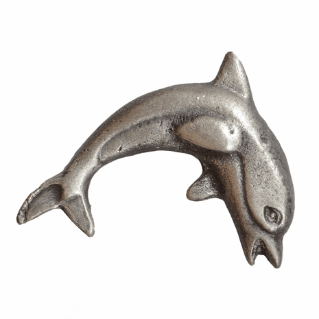 Dolphin Cabinet Knob - Right Facing