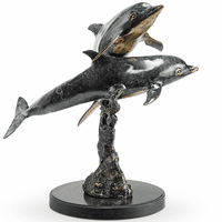 Dolphin Duo Table Statuary