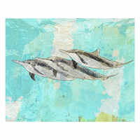 Dolphin Family Canvas Art