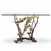 Dolphin Scene Console Table