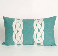 Double Knot Aqua Pillow - 12 x 20