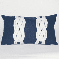 Double Knot Navy Pillow - 12 x 20