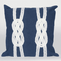 Double Knot Navy Pillow - 20 x 20
