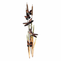 Dragonflies and Cattails Wall Art - Large