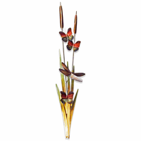 Dragonflies and Cattails Wall Art - Small